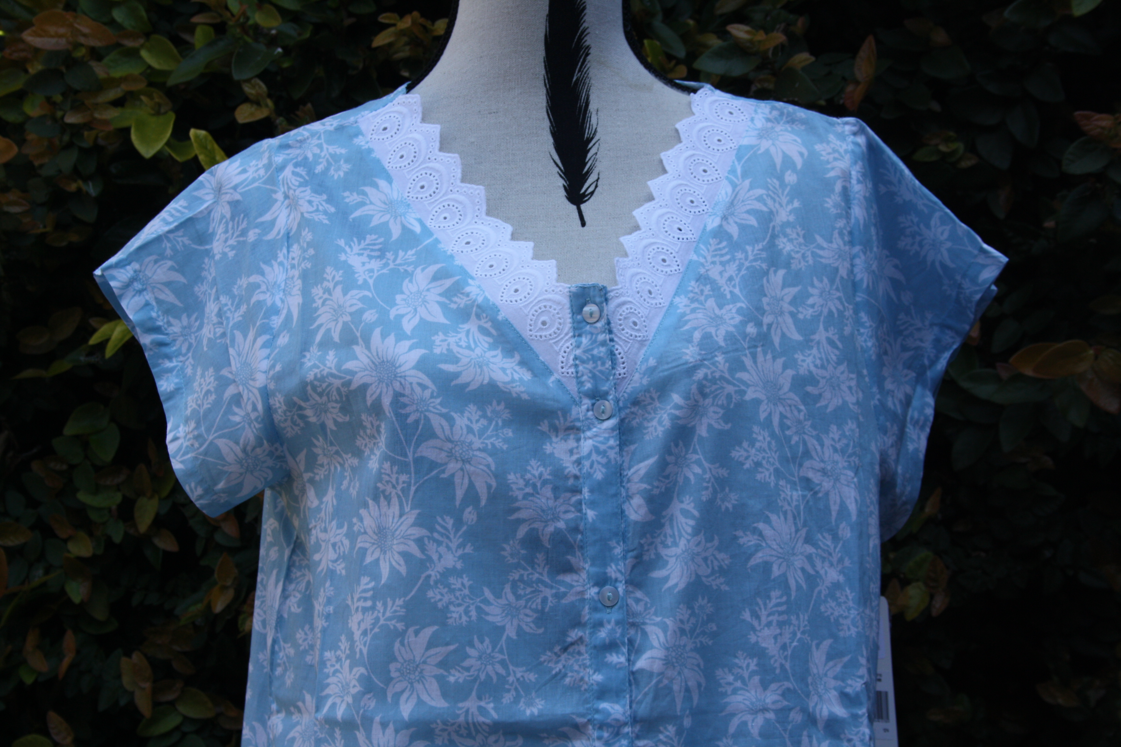FRENCH COUNTRY 100% COTTON NIGHTWEAR - FCT102V